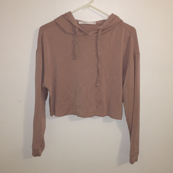 0fdcbe4e Brandy Melville Tops | Dusty Pink Cropped Hoodie | Poshmark